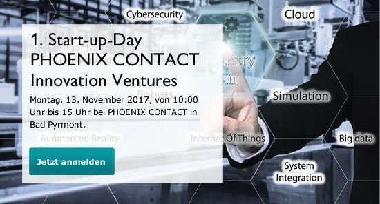 Phoenix Contact Innovation Ventures Start-up-Day